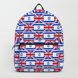 Mix of flag: Israel and uk Backpack