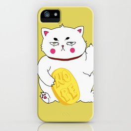 Maneki-nope iPhone Case