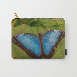 Blue Morpho peleides butterfly Carry-All Pouch