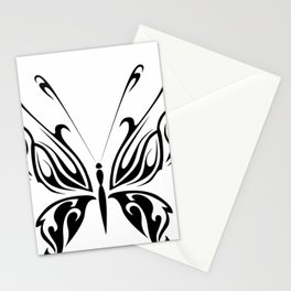 Butterfly Drawing Black and White Pattern Cutest Stationery Cards
