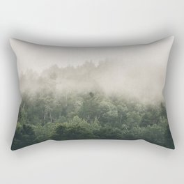 Forest Fog Photography | Woods | Misty | Mist | Forest Dew | Kaszuby Canada | Nature Photography Rectangular Pillow