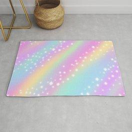Kawaii Rainbow Stars Fantasy Rug