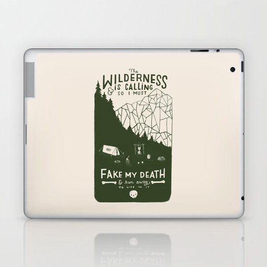 The Wilderness is Calling Laptop & iPad Skin