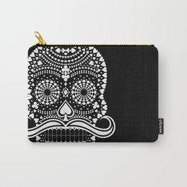 Black Skull  White Suits Carry-All Pouch