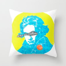 Ludwig van Beethoven 15 Throw Pillow