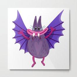 Cute Bat Metal Print