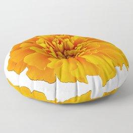 Orange Marigold Floor Pillow