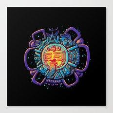 Aztec Sun Canvas Print