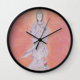 Goddess of Mercy - Guan Yin Buddha Wall Clock