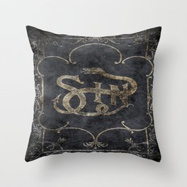 Book of Sin Throw Pillow