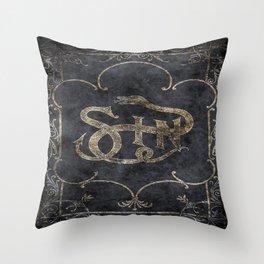Book of Sin Throw Pillow