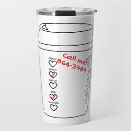 Coffee Cup Romance Travel Mug