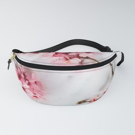Cherry pink blossoms watercolor painting #15 Fanny Pack