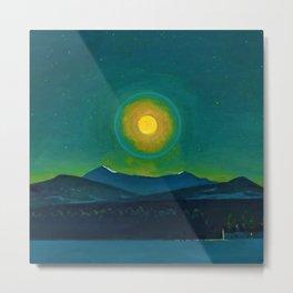 Winter Moonlight Mountain Landscape by Rockwell Kent Appalachian Metal Print