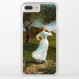 Winslow Homer The Dinner Horn Clear iPhone Case