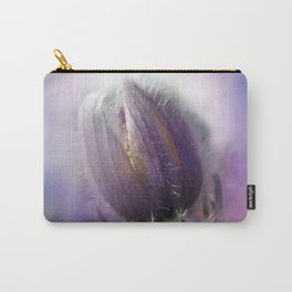 Pasque-flower on texture Carry-All Pouch