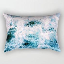 Huntington Beach Waves Rectangular Pillow