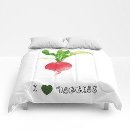 Radish - I love veggies Comforters