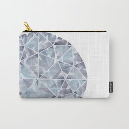 Grey Round Gem Carry-All Pouch