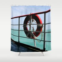voyage Shower Curtains featuring Voyage by Synergism