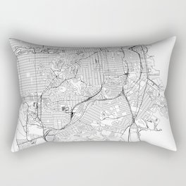 San Francisco White Map Rectangular Pillow