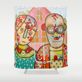 The American Gothic Shower Curtain