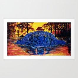 Swamp Gator Florida Mural Art Print
