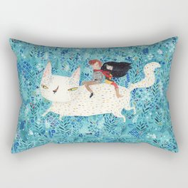 White giant cat Rectangular Pillow