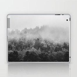 Landscape Photography | Forest Fog | Black and White Art | Minimalism Laptop & iPad Skin