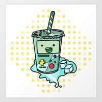 beemo Art Prints featuring Beemosoda by _ZNT_