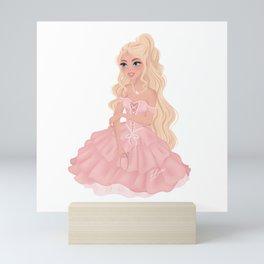 Pretty Princess in Pink Mini Art Print