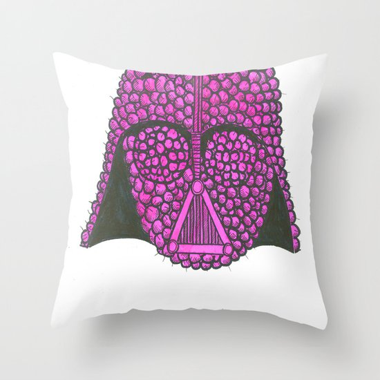 Darth Raspberry Throw Pillow