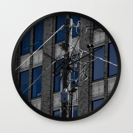 Wired In The City Wall Clock