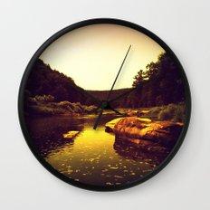 Let the Creek Take You Away Wall Clock
