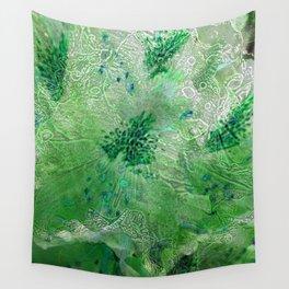 Green Lace Azalea Abstract  Wall Tapestry