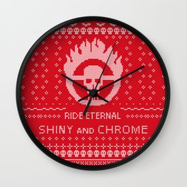 Mad Max War Boys Ugly Sweater Design Wall Clock