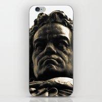 beethoven iPhone & iPod Skins featuring Beethoven Bust by Doug Bonebrake