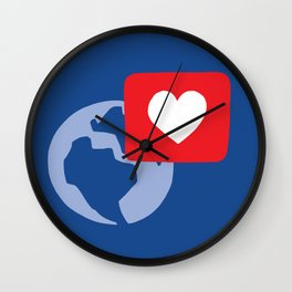 Love notification Wall Clock