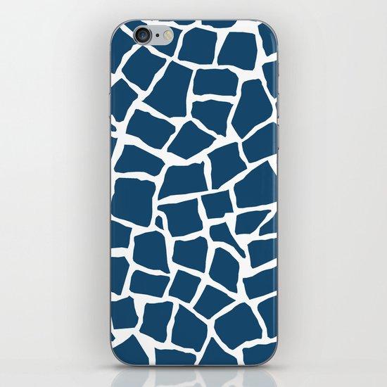 Mosaic Zoom Navy iPhone & iPod Skin