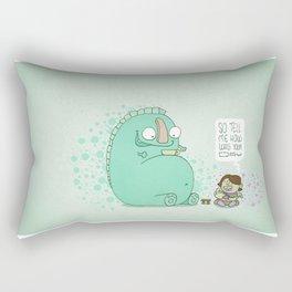 Monster and Tea Rectangular Pillow