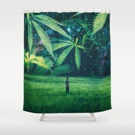 Cannabis Forest Shower Curtain