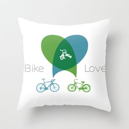 Bike Love Throw Pillow