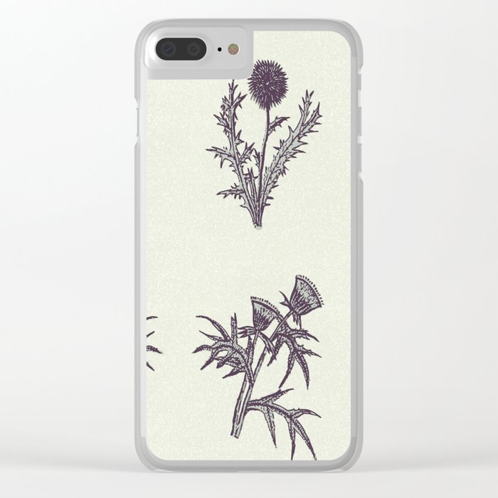 The thistle flowers Clear iPhone Case