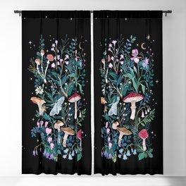 Night Mushrooms Blackout Curtain