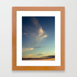 fish cloud Framed Art Print