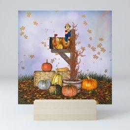 Seasons Mailbox Autumn Mini Art Print