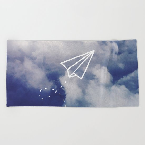 Paper Plane Beach Towel
