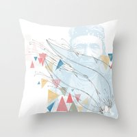 native Throw Pillows featuring Native by bri musser