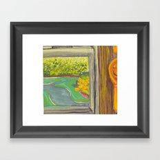 Kitchen Window with Happy Spoon Framed Art Print