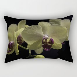 The Yellow Orchid Rectangular Pillow